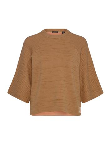 Scotch & Soda Club Nomade Knitted Pull T-shirts & Tops Knitted T-shirts/tops Beige Scotch & Soda CAMEL MELANGE