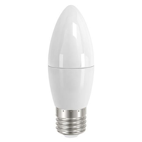 Sylvania E27 5,5W 827 LED-kynttilälamppu, satinoitu