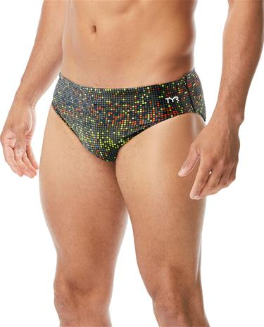 TYR Atomic Racer Briefs Men, black/multi