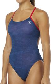 TYR Sandblasted Cutoutfit Swimsuit Women, navy