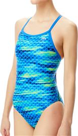 TYR Castaway Diamondfit Swimsuit Women, blue/green