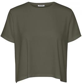 Noisy May - Elly Top - T-paita - Naiset - Oliivi