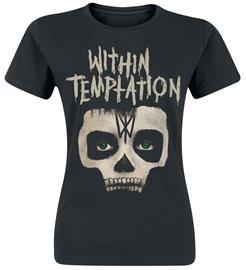 Within Temptation - Entertain Skull - T-paita - Naiset - Musta