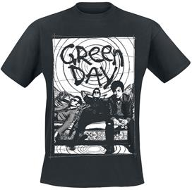 Green Day - Couch Photo - T-paita - Miehet - Musta
