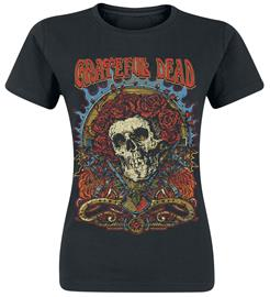 Grateful Dead - Dead Rose - T-paita - Naiset - Musta