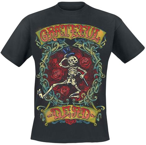 Grateful Dead - Skeleton - T-paita - Miehet - Musta