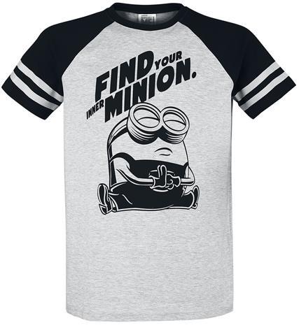 Minions - Find Your Inner Minion - T-paita - Miehet - Sävytetty harmaa musta