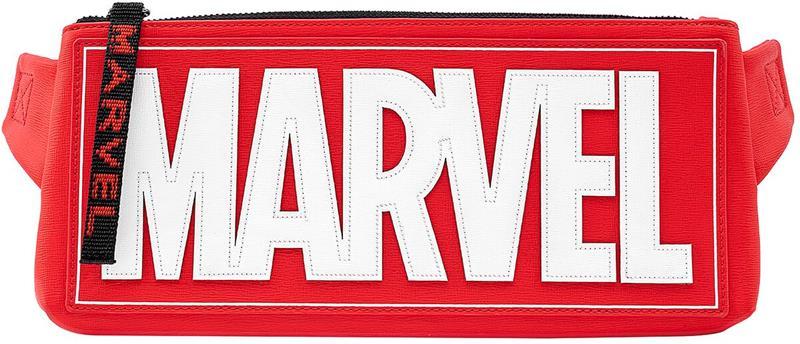 Marvel - Loungefly - Marvel Logo - Vyölaukku - Unisex - Punainen valkoinen musta