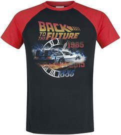 Back To The Future - Time - T-paita - Miehet - Musta punainen