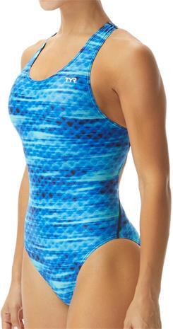 TYR Castaway Maxifit Swimsuit Women, blue