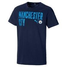 Manchester City T-paita FtblCore Wording - Navy/Sininen