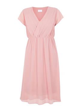 Mamalicious Mlyolanda Mary Woven Dress Mellow Rose L