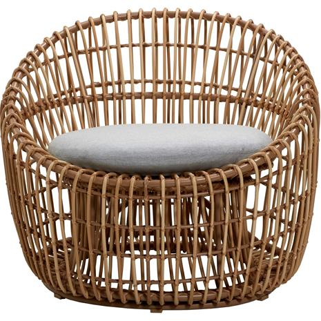 Cane-line Cane-line-Nest Armchair Round Outdoor With Pillow