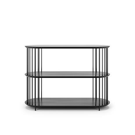 Decotique Decotique-Cage 90 3 Shelf, Black Oak / Black