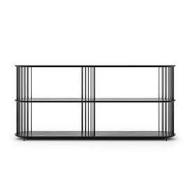 Decotique Decotique-Cage 180 High 3 Shelf, Black Oak / Black