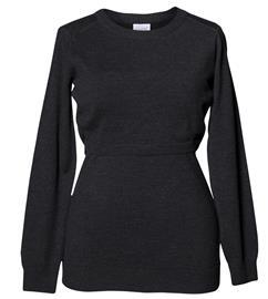 Boob Knitted Äitiys-/Imetyspaita, Dark Grey Melange XL