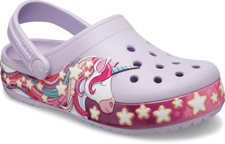 Crocs Fun Lab Unicorn Clog, Lavender, 20-21