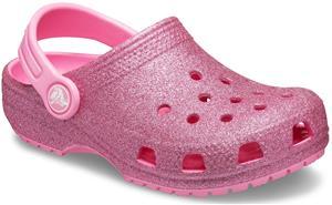 Crocs Classic Glitter Clog, Pink Lemonade, 30-31