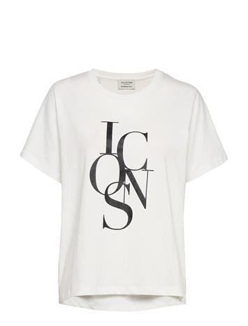 Selected Femme Slftrine Ss Tee W T-shirts & Tops Short-sleeved Valkoinen Selected Femme BRIGHT WHITE