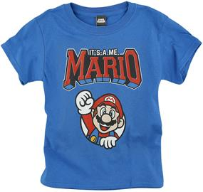 Super Mario - It's A Me, Mario - Pitkähihainen paita - Lapset - Sininen