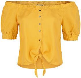 Noisy May - Endi Off Shoulder Tie Shirt - Pusero - Naiset - Sitruuna