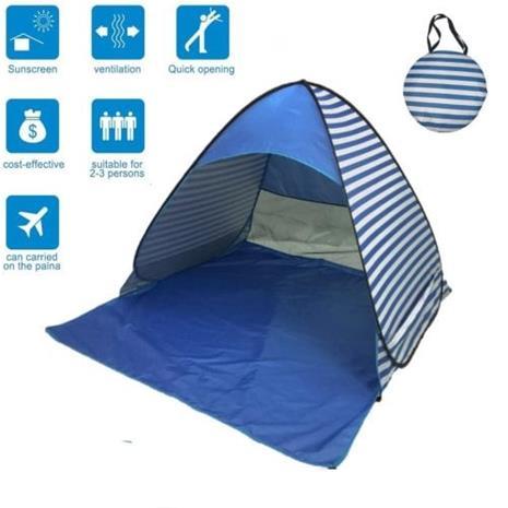 Pop-up teltta UV40+, siniraidallinen