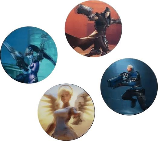 Overwatch - 3D Coasters - Mukinalunen - Unisex - Monivärinen