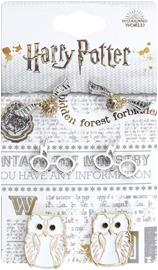 Harry Potter - Hedwig, Glasses, Golden Snitch - Nappikorvakorusetti - Naiset - Hopeanvärinen