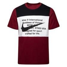 Nike T-paita NSW Swoosh - Viininpunainen/Musta/Valkoinen