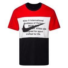 Nike T-paita NSW Swoosh - Musta/Punainen/Valkoinen