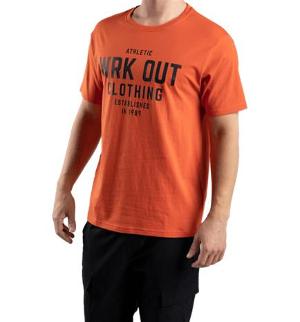 Soc M GRAPHIC TEE DEEP ORANGE/WRK