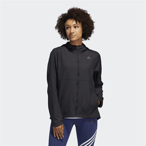 Adidas OWN THE RUN HOODED WINDBREAKER BLACK