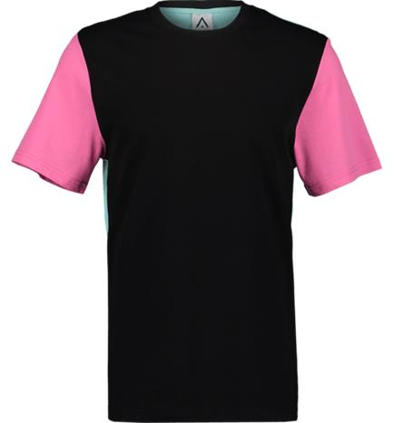 Wearcolour M BACK TEE TURQUISE/BLACK