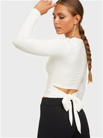 NLY Trend Tie Back Rib Top