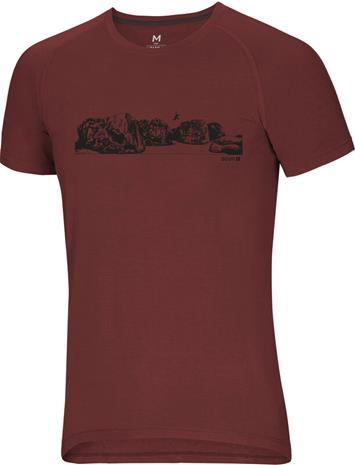 Ocun Raglan T-Shirt Men, bleau jump chili oil