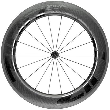 "Zipp 808 NSW Front Wheel 28"""" 100mm Carbon Clincher Tubeless QR, black"
