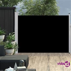 vidaXL Sisäänvedettävä terassin sivumarkiisi 100x500 cm musta