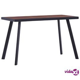 vidaXL Ruokapöytä tumma puu ja musta 120x60x75 cm MDF