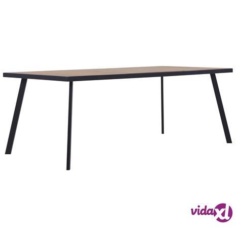 vidaXL Ruokapöytä vaalea puu ja musta 180x90x75 cm MDF
