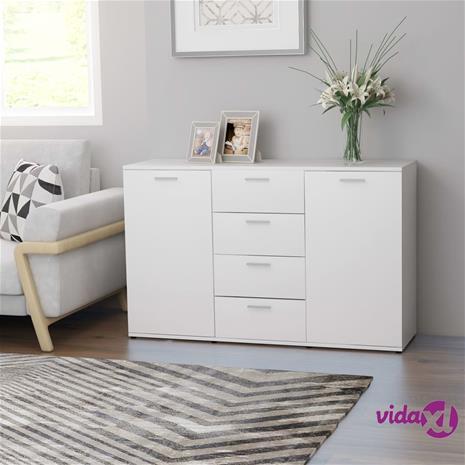 vidaXL Senkki valkoinen 120x35,5x75 cm lastulevy