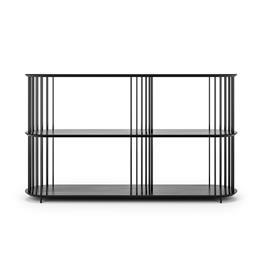 Decotique Cage 140 High 3 Shelf, Black Oak / Black