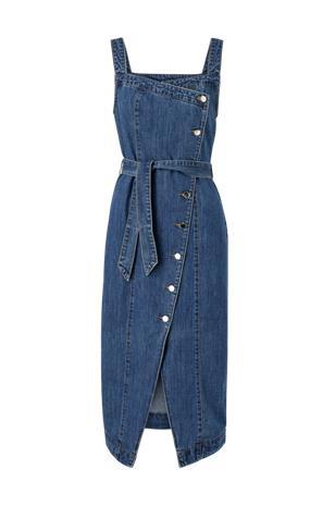 Vero Moda Farkkumekko vmYasemin SL Blk Denim Dress