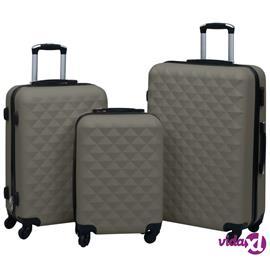 vidaXL Kovapintainen matkalaukkusetti 3 kpl antrasiitti ABS