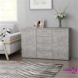 vidaXL Senkki betoninharmaa 120x35,5x75 cm lastulevy