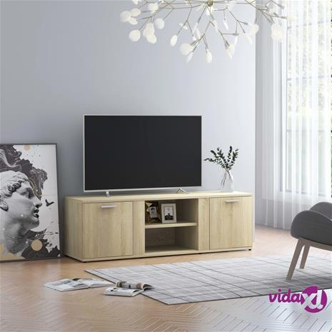 vidaXL TV-taso Sonoma-tammi 120x34x37 cm lastulevy