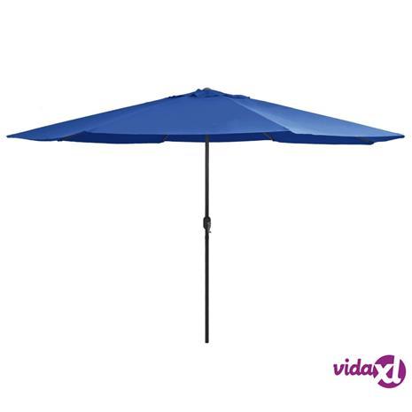 vidaXL Aurinkovarjo metallirunko 400 cm taivaansininen