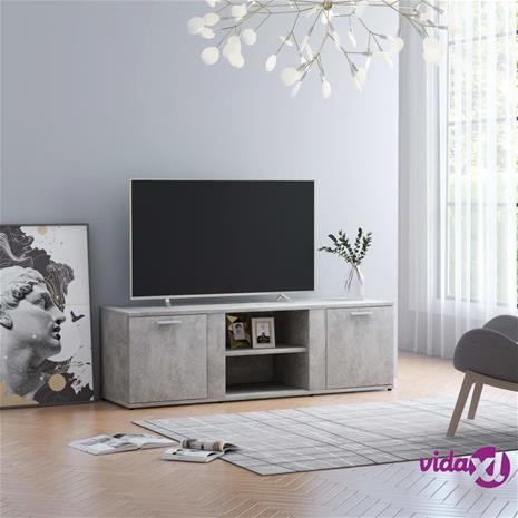 vidaXL TV-taso betoninharmaa 120x34x37 cm lastulevy