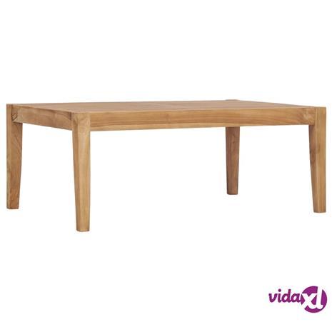 vidaXL Puutarhapöytä 90,5x55,5x30,5 cm täysi tiikki