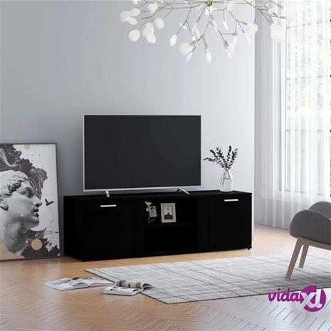vidaXL TV-taso musta 120x34x37 cm lastulevy