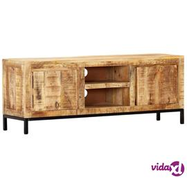 vidaXL TV-taso 118x30x45 cm täysi mangopuu
